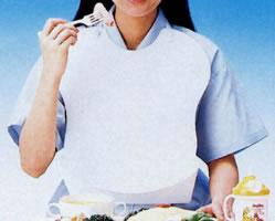 お手入れ簡単 汚れは拭き取るだけで ニオイやシミもつきません ピジョン ハビナース 食事用エプロン 介護用品 K745 食事エプロン 介護用エプロン 販売実績No.1 信託 食事介助