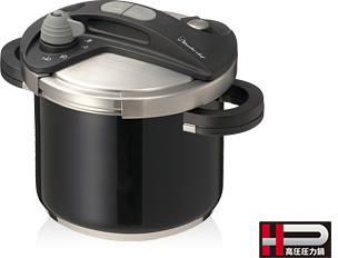 ワンダーシェフ オースプラス 圧力鍋 5L ブラック (IH調理器対応)