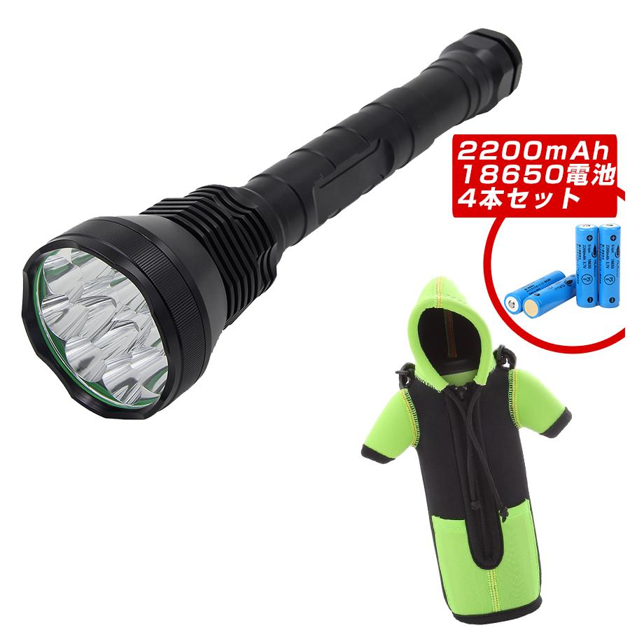 超強力懐中電灯・ダウンジャケット風ペットボトルカバーセット