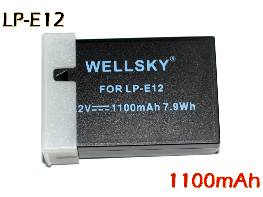 LP-E12 3,980円以上のご購入送料無料 あす楽対応 互換バッテリー 1100mAh 新品未使用正規品 純正充電器で充電可能 残量表示可能 純正品と同じよう使用可能 Canon 数量は多 M M2 M100 キヤノン イオス X7 Kiss EOS