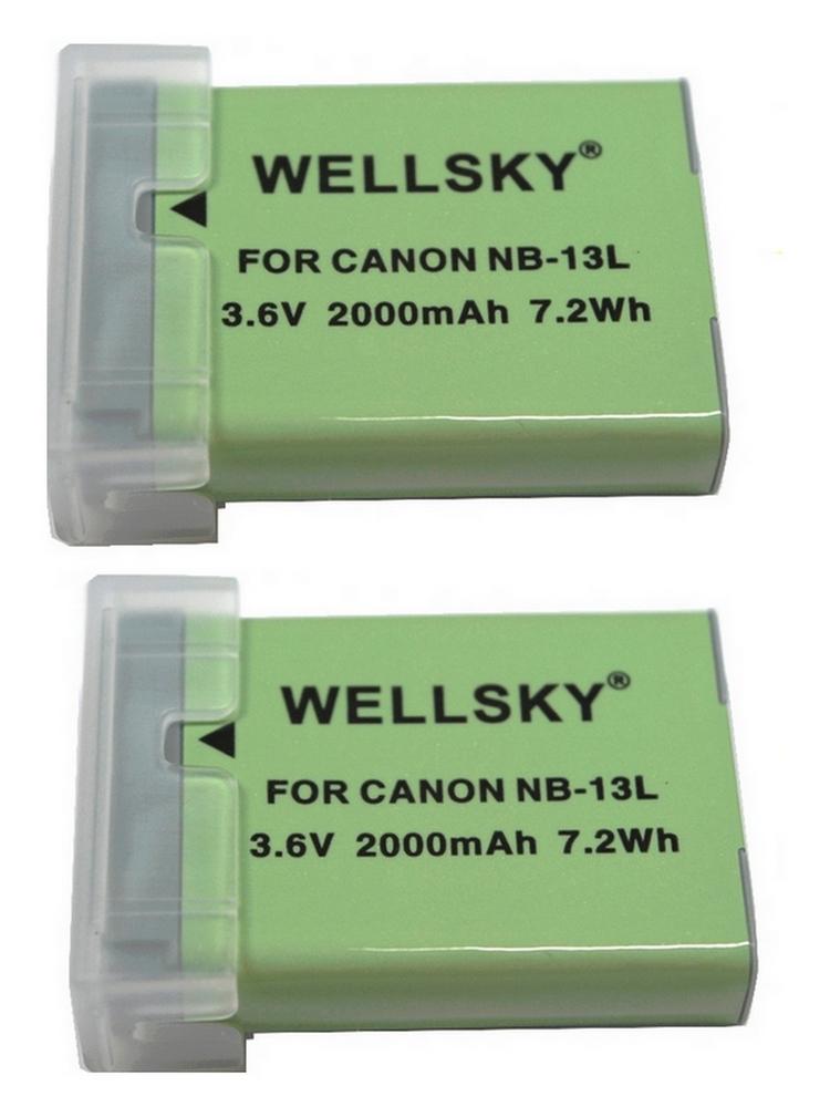 NB-13L [ 2個セット ] 互換バッテリー 2000mAh [ 純正充電器で充電可能 残量表示可能 純正品と同じよう使用可能 ] Canon キヤノン PowerShot G7 X PowerShot G5 X G9 X G9 X Mark II G7 X Mark II SX620 HS SX720 HS SX730 HS
