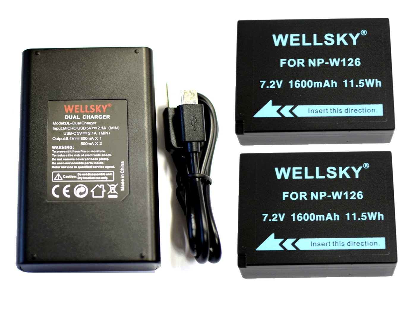 MICRO USB BC-W126 CHARGER for Fuji NP-W126 NP-W126S