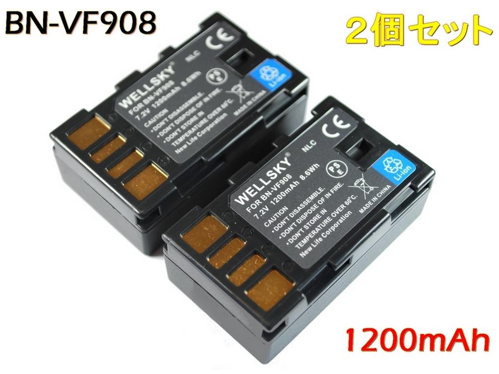 [ あす楽対応 ] [ 2個セット ] [ Jvc Victor ビクター Everio エブリオ ] BN-VF908 / BN-VF808 互換バッテリー [ 純正充電器で充電可能 残量表示可能 純正品と同じよう使用可能 ] GR-DA30 / GZ-X900 / GZ-MG360 / GZ-MG330 / GZ-MG575等