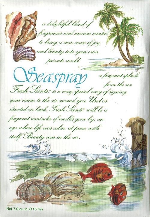 海風のイメージに花の香りをブレンドしたさわやかな香り 即納 ウィローブルック フレッシュセンツL シースプレイ 海 フレグランス サシェ 玄関 安値 車 ショップ ロッカー 香り袋 クローゼット