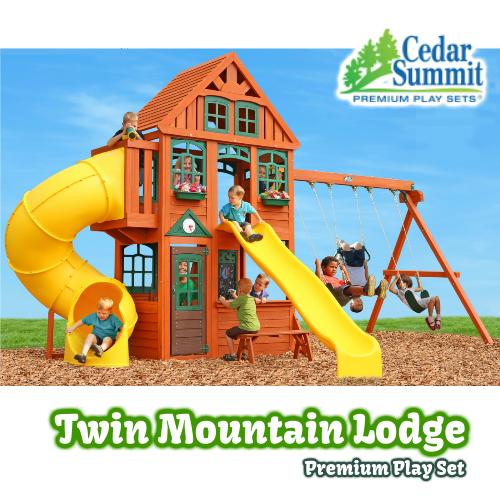 セダ―サミット ツインマウンテンロッジ 大型 プレイジム 遊具 Cedar Summit Twin Mountain Lodge【smtb-ms】2012010
