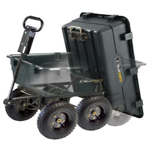 大猩猩推车垃圾场提高推车GOR866D 544kg空气轮胎GORILLA CARTS花园推车垃圾场调车场推车户外园艺0968901