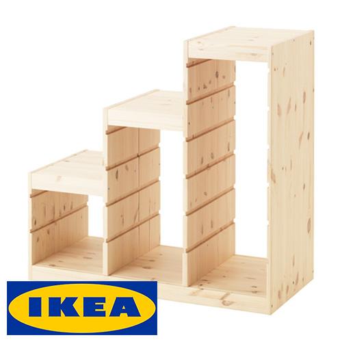 合計14 980円以上で送料無料 合計10 000円以上で代引き手数料無料 IKEA 通販 激安◆ TROFAST 階段型 収納 フレーム イケア 94x44x91cm キャビネット 白板 トロファスト 40308696 ラック 棚 収納ボックス smtb-ms セール