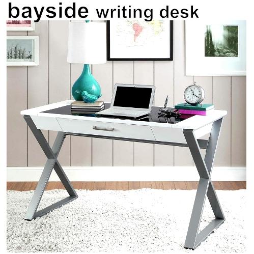 bayside writing desk パソコンデスクベイサイド ホワイト ライティングデスク パソコン机 引き出し付き 121×76cm【smtb-ms】1136468