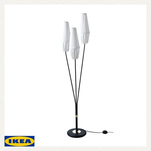 Ikea KnÄsjÖ Knasjo Floor Lamp Height 125 Cm Cuneshaw Living Lighting Fabric Table Interior Led Light 80293042