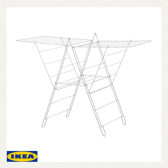 Ikea Drying Racks Frost Floor White Clothesline Laundry Folding Clothes Stand