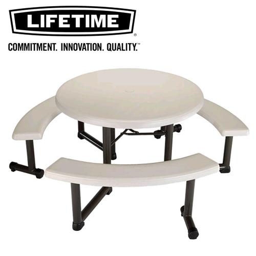 ●●LIFETIME ライフタイム ラウンドテーブル 椅子付round table chair 樹脂製丸机&椅子