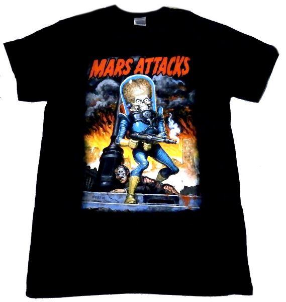 Mars Attacks City Destruction adult tee
