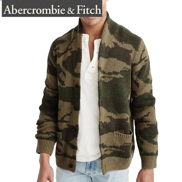 Abercrombie & Fitchアバクロンビーアンドフィッチ正規品ニット カウチン 迷彩 カモShawl Cardiganショールカーディガン120-201-1350-336インポートブランド海外買い付け