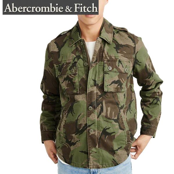 Abercrombie&Fitchアバクロンビーアンドフィッチ正規品メンズミリタリーシャツジャケットアウターMilitary Shirt Jacket迷彩Olive Green Camoカモ柄132-327-0494-336インポートブランド海外買い付け正規