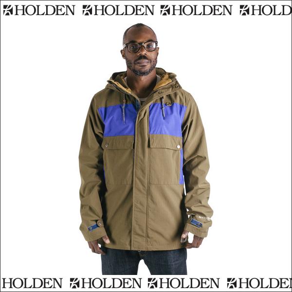 【在庫売りつくし】HOLDEN ホールデン Seville Jacket SVJ-15-N-JK Olive-Electric Indigo [即納]2015-2016モデル ジャケット メンズ スノーボードウェア【あす楽対応】