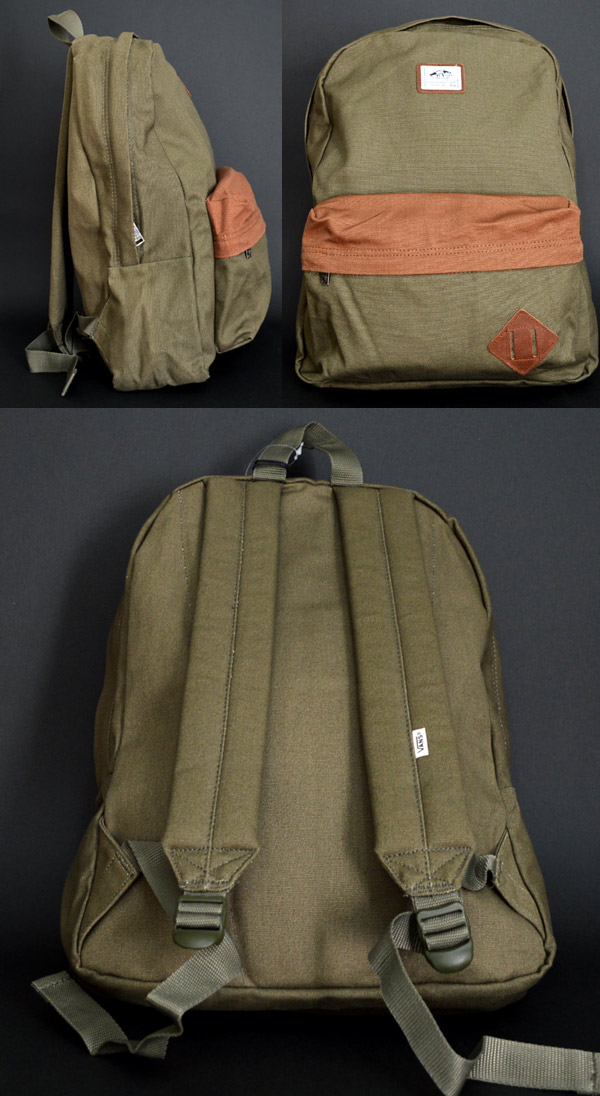 VANS backpack foreign countries buying product debugging rucksack OLD SKOOL II BACKPACK Ivy Green VN 0ONIIVG station wagons man and woman combined use