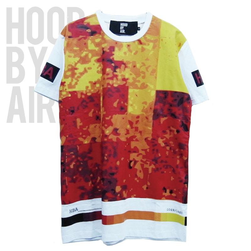 *HOOD BY AIR フード バイ エアー Tシャツ 多くのアーティストから支持されているニューヨーク発のブランド HOOD BY AIR HBA-2 -TEMP PIXELS-