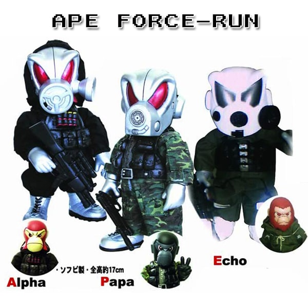 * APE FORCE RUN 3セット 限定 ソフビ フィギュア 香港 East Touch 限定 カラー