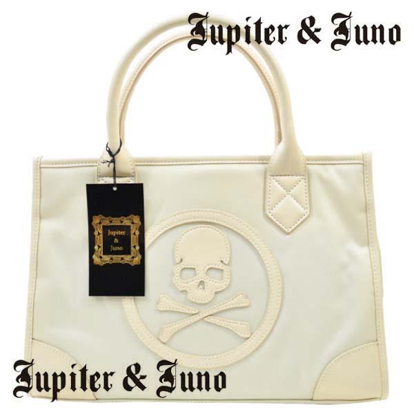 Jupiter&Juno(ジュピターアンドジュノ)Skull mini totet bag (スカル ミニ トート バッグ)ホワイト
