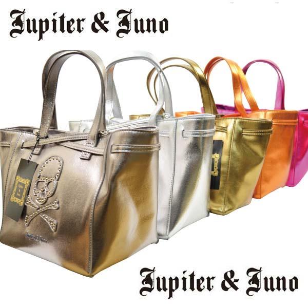 Jupiter&Juno(ジュピターアンドジュノ)Skull Shiny color mini totet bag (スカル シャイニー カラー ミニ トート バッグ)