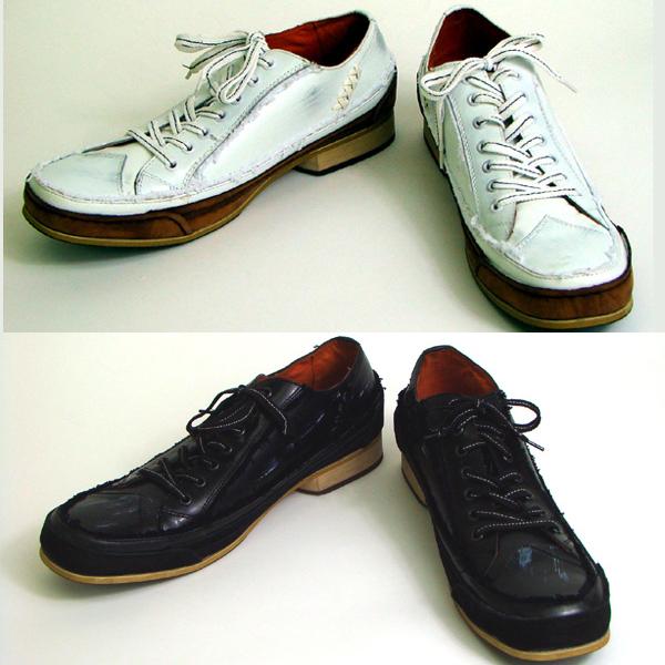 *ツートン カットオフ コンビネーション シューズ 靴 MD7006