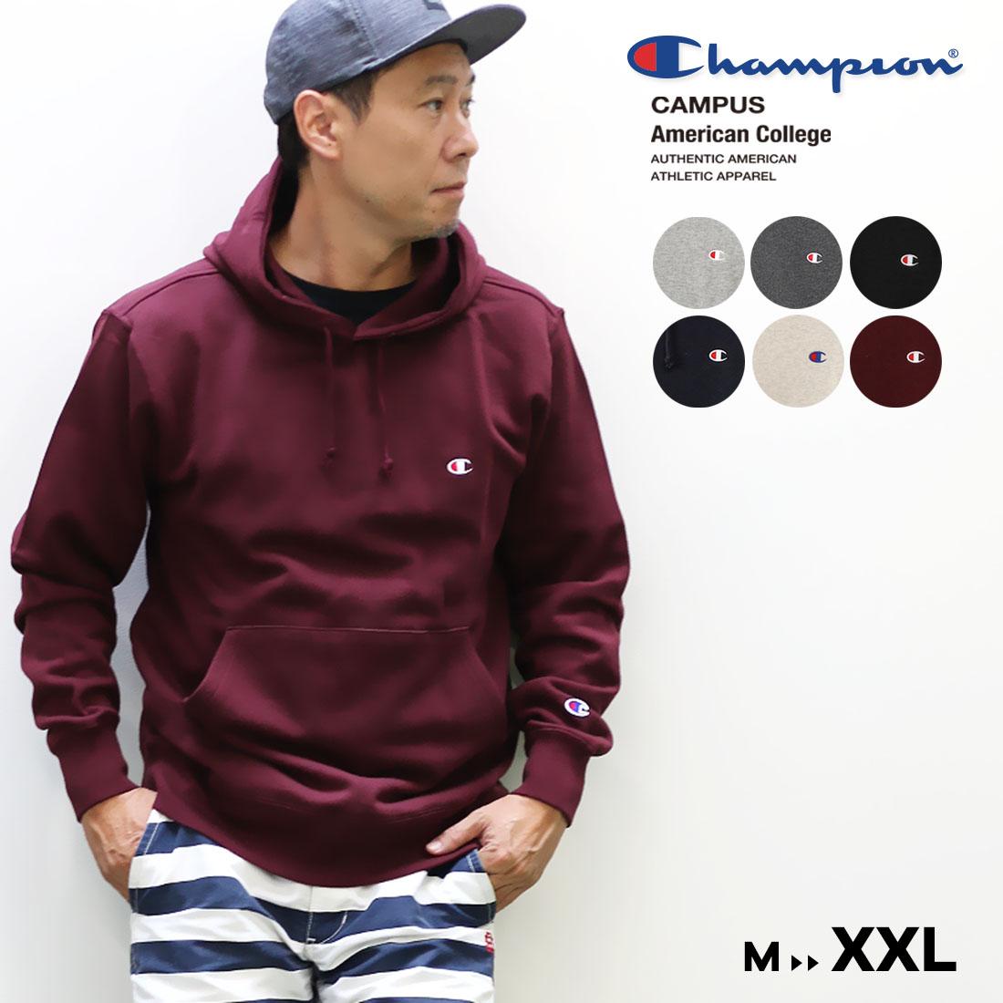 Champion チャンピオン メンズ○19FW新作○Cロゴ プルオーバーパーカー(M L XL XXL)メール便不可