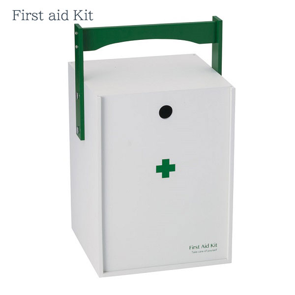 【お取り寄せ】イシグロ 60059 デザイン小物 W20.3×D19×H33.5cm 救急箱 おかもち型 ホワイト 装飾 インテリア 収納