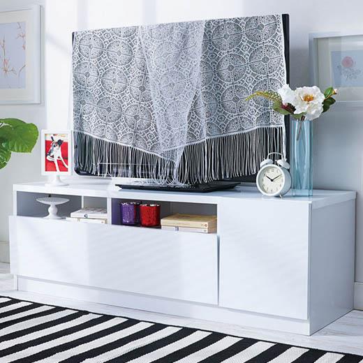 テレビ台 テレビボード ローボード TVボード AVボード テレビラック ラック 幅120 鏡面 白 ホワイト 黒 ブラック 鏡面仕上げテレビボードシリーズ ベルーナ ノアン インテリア
