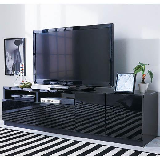 テレビ台 テレビボード ローボード TVボード AVボード テレビラック ラック 幅150 鏡面 白 ホワイト 黒 ブラック 鏡面仕上げテレビボードシリーズ ベルーナ ノアン インテリア