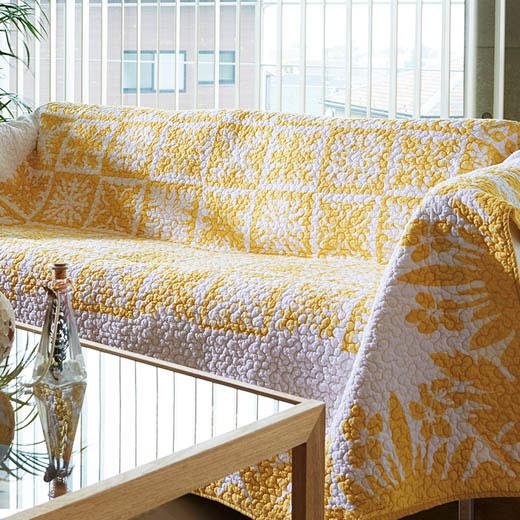 <新商品> 中わたふんわり!ハワイアンデザインの綿100%マルチカバー/約190cm×250cm/インテリア・寝具・収納/ソファカバー・イスカバー ノアン インテリア ベルーナ