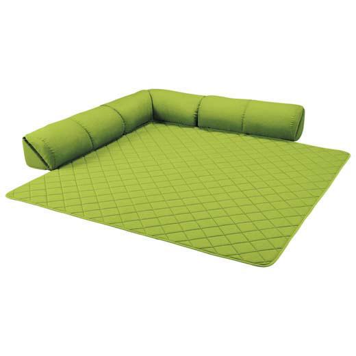 <新商品> ゆったり・まったりクッション一体型ラグ<クッション付ラグ><こたつ敷布団としても>/15mm厚L字型大/インテリア・寝具・収納/カーペット・マット・畳/カーペット・ラグ/角型