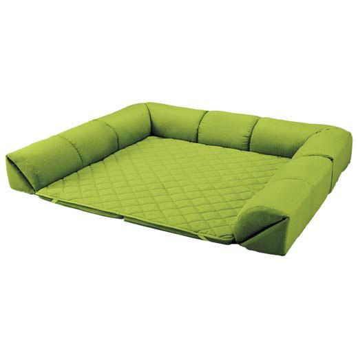 <新商品> ゆったり・まったりクッション一体型ラグ<クッション付ラグ><こたつ敷布団としても>/50mm厚U字型小/インテリア・寝具・収納/カーペット・マット・畳/カーペット・ラグ/角型