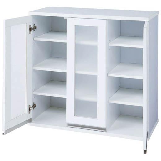 組合せ自在なコンパクトキッチン収納シリーズ/幅90cm 食器棚/インテリア・寝具・収納/収納家具/キッチン収納/食器棚・キッチンボード ノアン インテリア ベルーナ