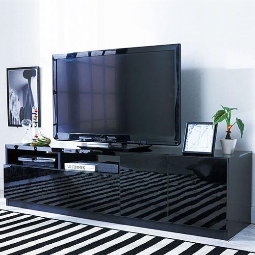 鏡面仕上げテレビボードシリーズ<姫系・ラブロマ>/テレビボード幅150cm/インテリア・寝具・収納/収納家具/棚・シェルフ/その他