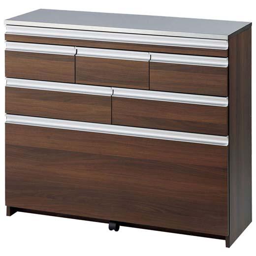 スライドテーブル付ステンレス薄型カウンター/幅100cm/インテリア・寝具・収納 収納家具 キッチン収納 食器棚・キッチンボードベルーナ ノアン インテリア