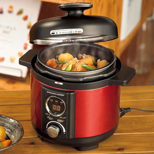電気圧力鍋 ナベ なべ 電気鍋 手軽 推奨 時短料理アルファックスコイズミ 圧力鍋 限定特価 調理容量1.2L 時短料理 簡単