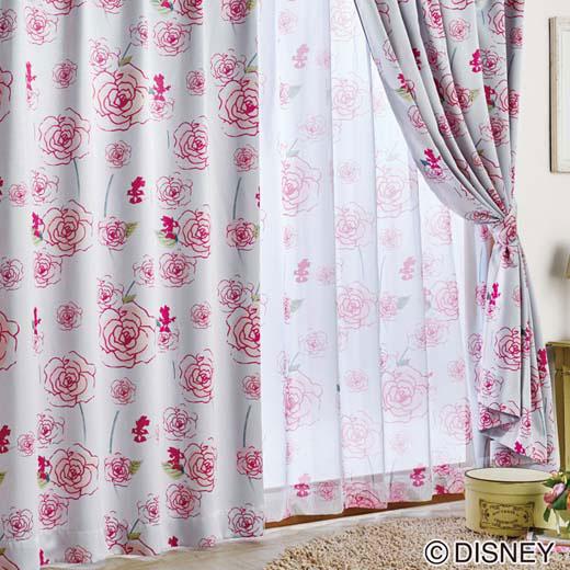 隠れミニーのカーテンセット/約幅150×丈200cm/インテリア・寝具・収納 カーテン・ブラインド ドレープカーテン