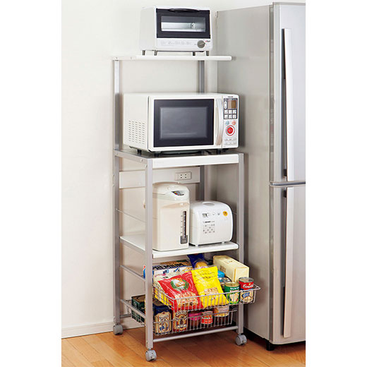 キッチン家電収納ワゴン/スリムハイ/インテリア・寝具・収納 収納家具 キッチン収納 食器棚・キッチンボード