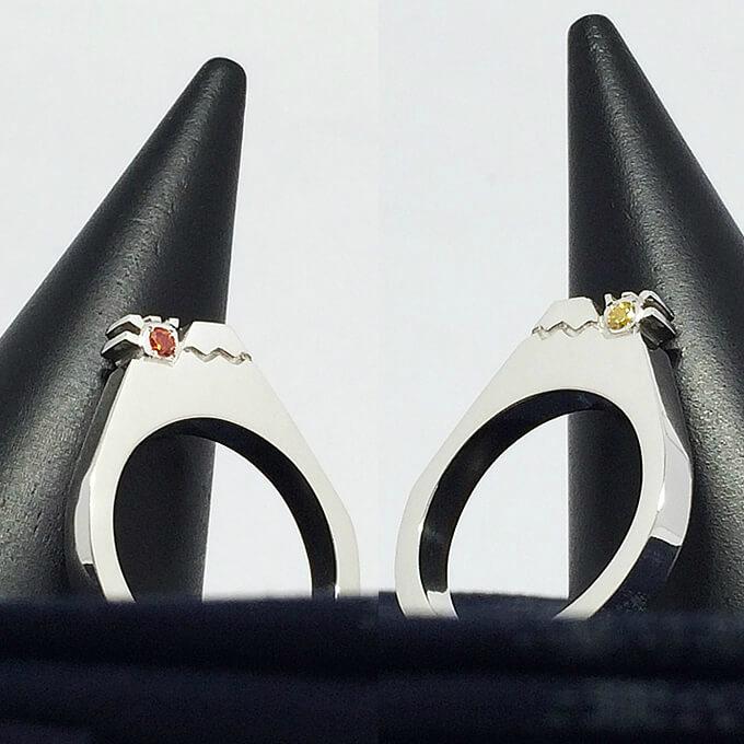 フラット富士山りんぐ(リバーシブル) シルバーアクセサリー シルバーリング 指輪 ハンドメイド 可愛い 個性的 大きいサイズ レディース メンズ 誕生日 クリスマス プレゼント プチギフト 5~25号 0.5号刻みで製作可能