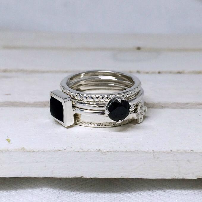 新・華奢リングの5連 大きいサイズ 3~25号 0.5号刻み可能 サイズ違い可能 シルバーリング レディース 指輪 おしゃれ 4連 3連 2連 女性 プレゼント