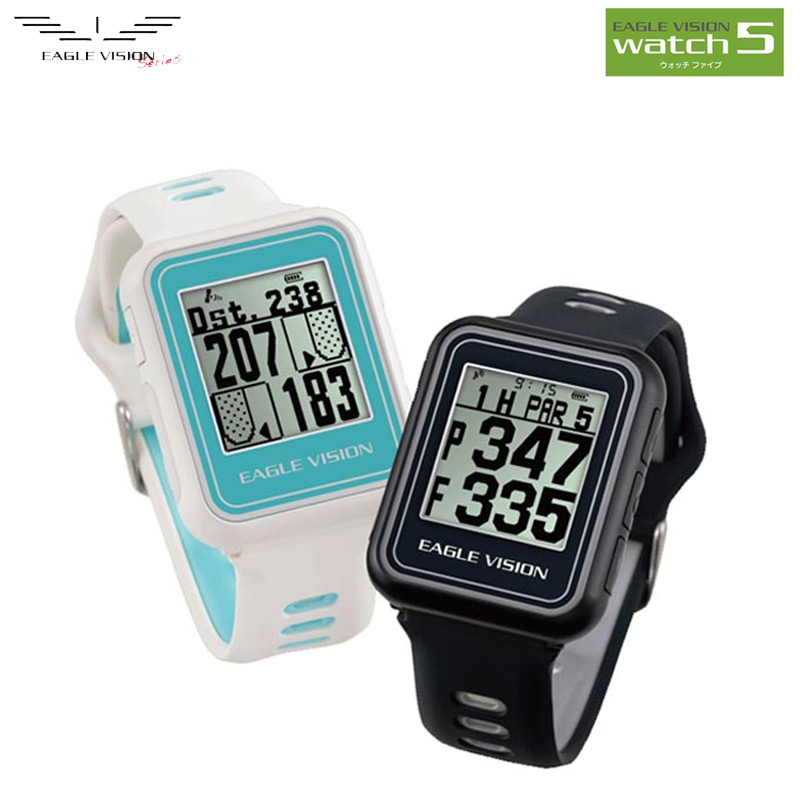 全品送料無料 超軽量ウォッチ型ゴルフナビ イーグルビジョン EAGLE VISION watch 5 ウォッチ5 腕時計型 ゴルフナビゲーション GPSナビ ゴルフ 距離計