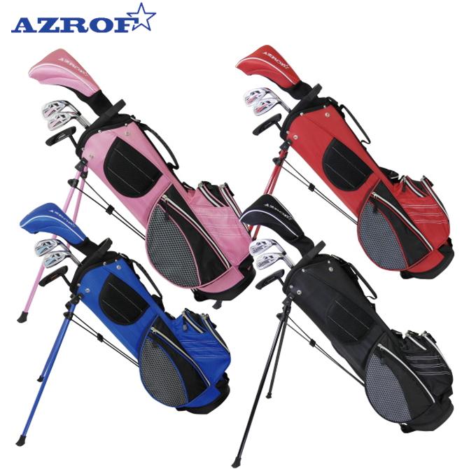 店内全品送料無料 アズロフ ジュニア用 ゴルフセット 6-9歳 9-12歳 AZROF Jr 子供用 AZ-JR7  メーカー取り寄せ品
