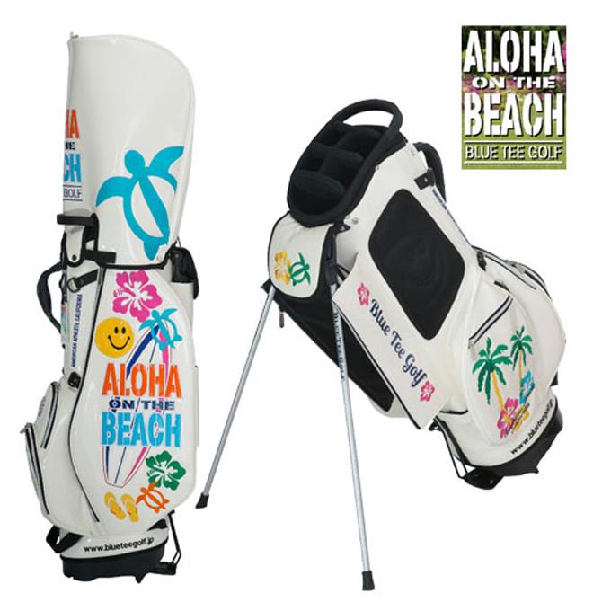 店内全品送料無料 スタンドキャディバッグ エナメルバッグ ブルーティーゴルフ 限定生産 アロハオンザビーチ 9インチ BTG-CB011