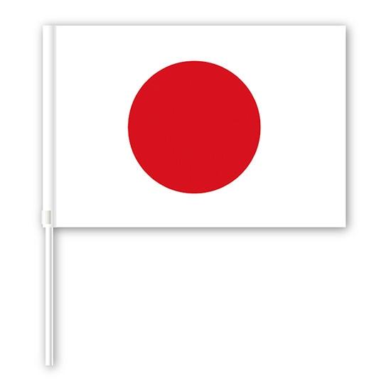 スポーツの応援などで手に持って使用する小さい旗 手旗 日本 国旗 Lサイズ No.69368