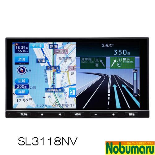 デンソーテン販売 ソーリン カーナビ 7型(180mm) WSVGAモニター フルセグ/DVD/CD/microSD/USB/外部入力(AUX/VTR)/Bluetooth ステアリングリモコン対応 SL3118NV