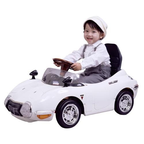【電動バッテリーカー】TOYOTA 2000GT ホワイト TGT-BW 子供用 キッズ 車 電動 子供 プレゼント