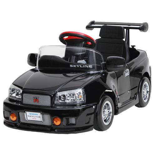 【電動バッテリーカー】スカイラインGT-R R34-B 子供用 キッズ 車 電動 子供 プレゼント