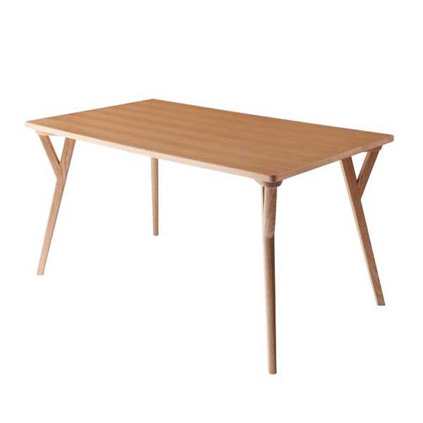 流れる木目♪ 北欧 ダイニングテーブル 単品 W140 【送料無料】 4人掛け 食卓 天然木 140 ナチュラル おしゃれ 激安 安い 格安 シンプル 140×80