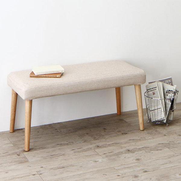 シンプルだけど上質デザイン♪ ダイニングベンチ 【送料無料】 木製 小さい コンパクト おしゃれ 北欧 クッション 安い 椅子