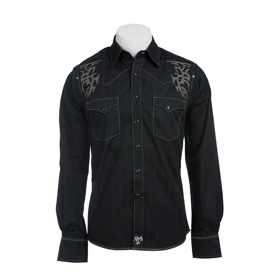 Wrangler ラングラー ウエスタンシャツ ブラック メンズ【メンズセレクト】